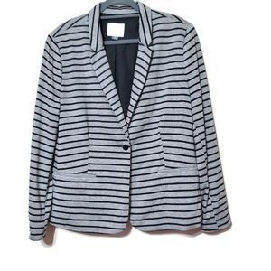 Old Navy striped gray career blazer long sleeves